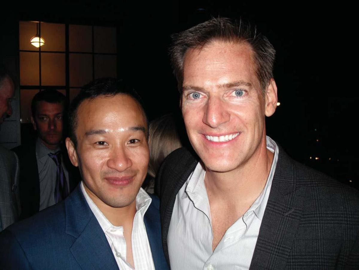 Writer-director Shawn Ku (left) and co-writer Michael Armbruster