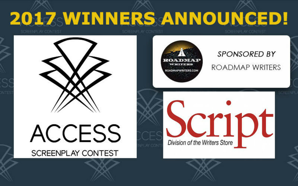 Congratulations to the winners of the 2017 Access Screenplay Contest, sponsored by Roadmap Writers, Final Draft and Script Magazine.