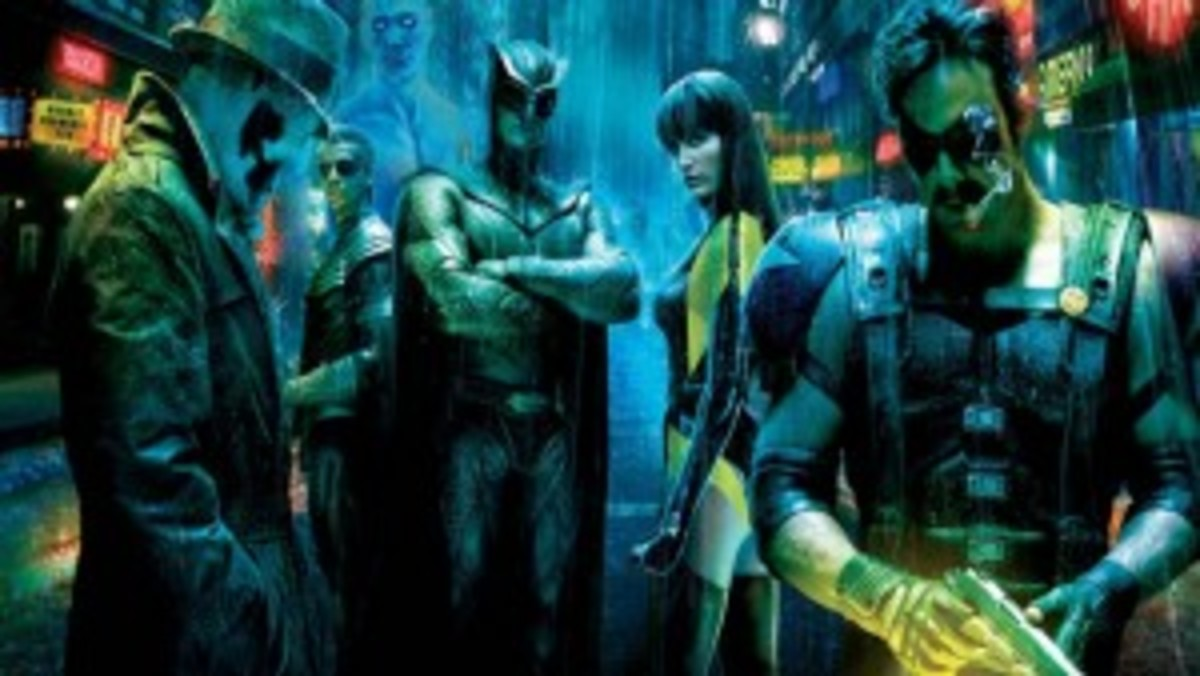 The Watchmen, from left to right: mentor, antagonist, protagonist, love interest and reflection characters.