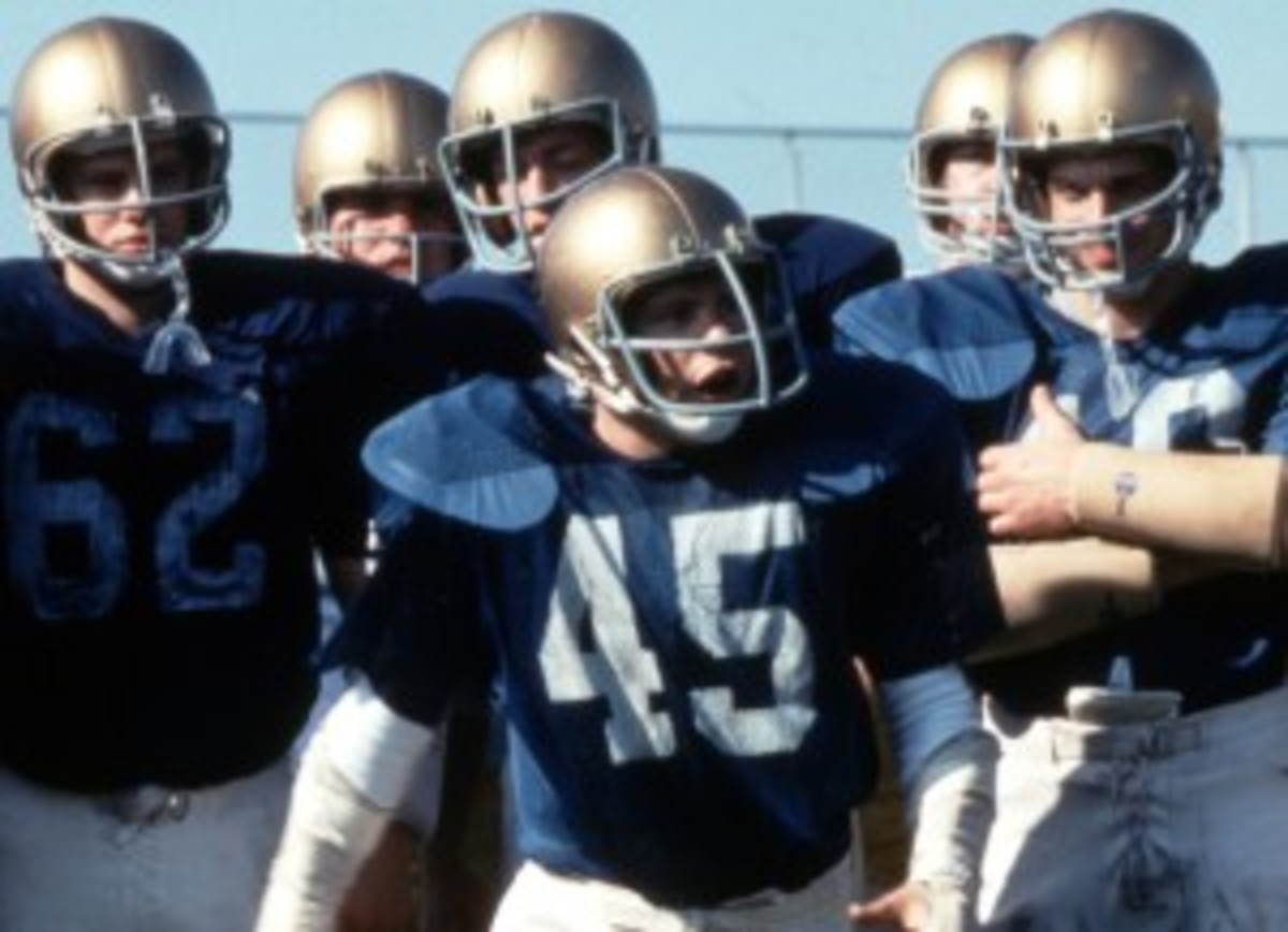 Rudy Ruettiger has his share of personal obstacles in Rudy, but does that mean he's his own antagonist?
