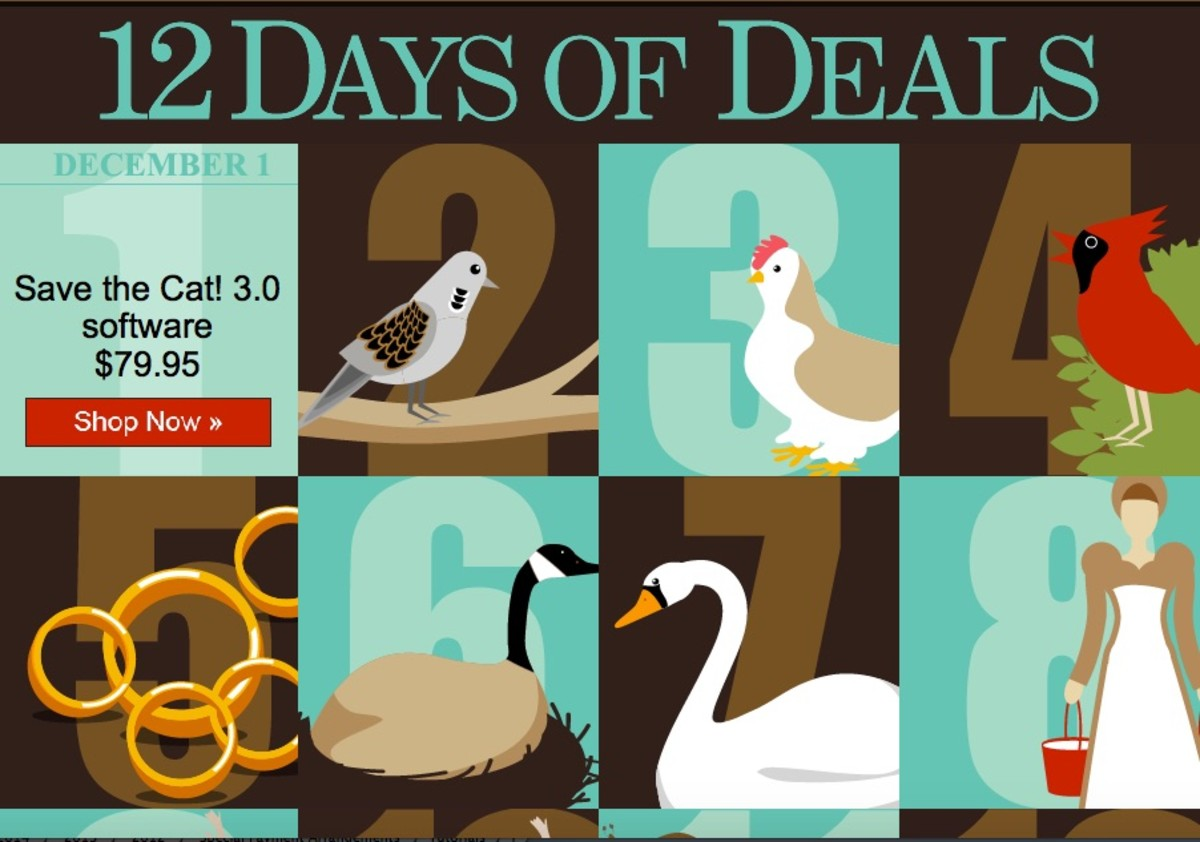 12 DAYS OF DEALS at The Writers Store!