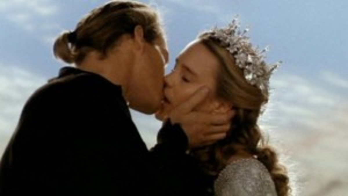 Wesley goes through fire swamps, torture and even death to end up with Buttercup in The Princess Bride.