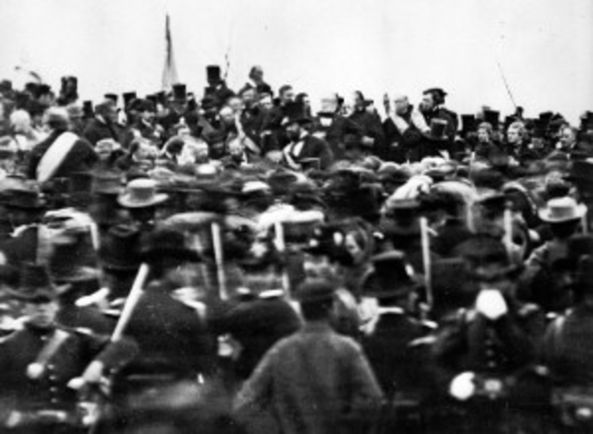 Matthew Brady photo of Lincoln at Gettysburg