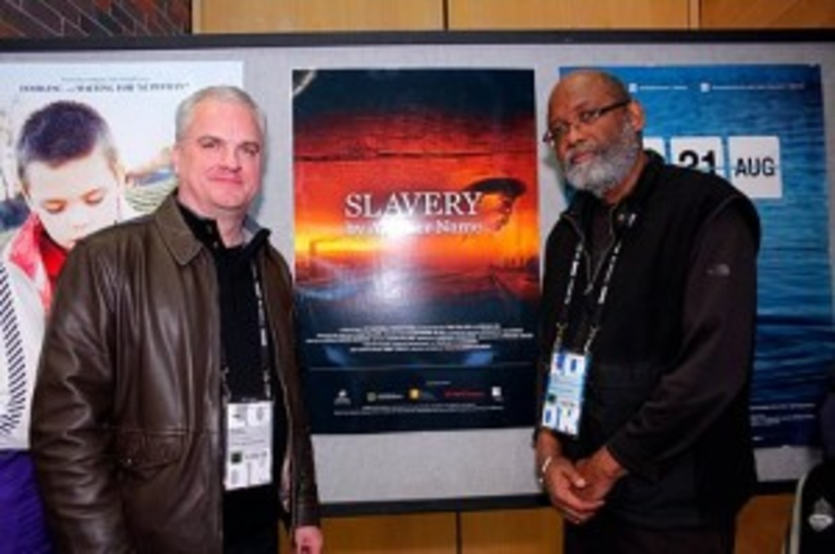 Douglas A. Blackmon (left) and Sam Pollard at Sundance