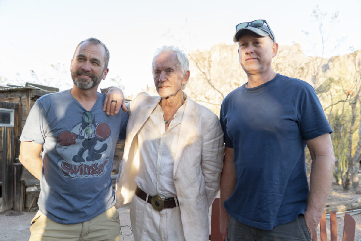 Shawn, left and Kevin, right with Lance Henriksen