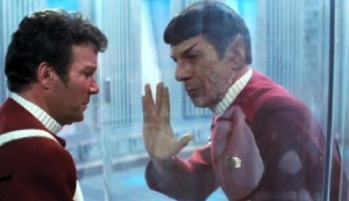 Spock makes the ultimate sacrifice for his protagonist in Star Trek II: The Wrath of Kahn.
