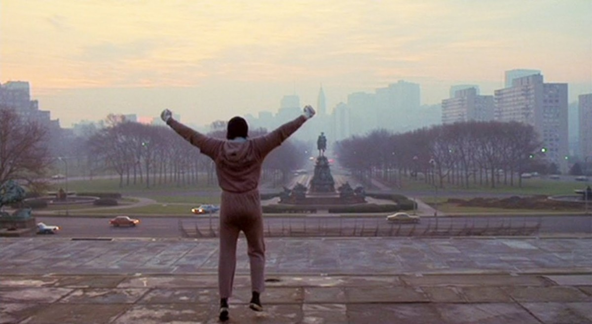 1978's Best Picture tells the story of a soft hearted street thug in Philly getting the boxing aopportunity of a lifetime in Rocky.