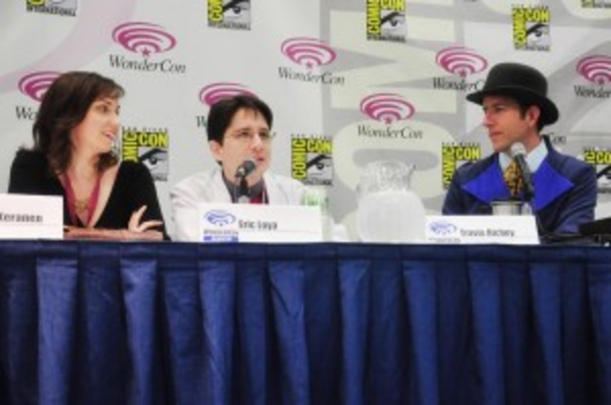 "The trio speaking at an ""Untitled Web Series"" panel"