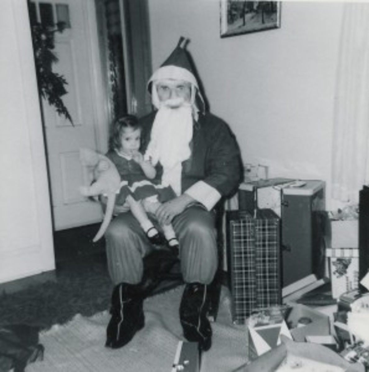 Yes, I still have that stuffed cat in my office, but not sure if that somewhat creepy-looking Santa asked if I wanted to be a writer.