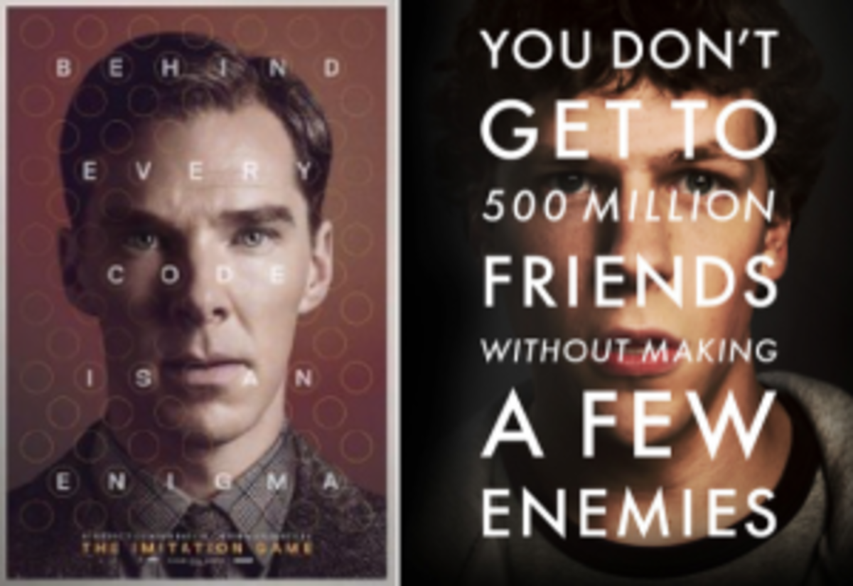 The Imitation Game and The Social Network have more in common than similar marketing campaigns.