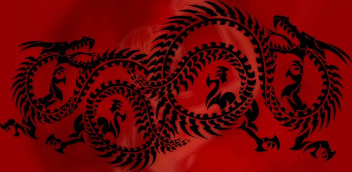Red dragon based on the book, Inner Drives: Create Characters Using the 8 Centers of Motivation.
