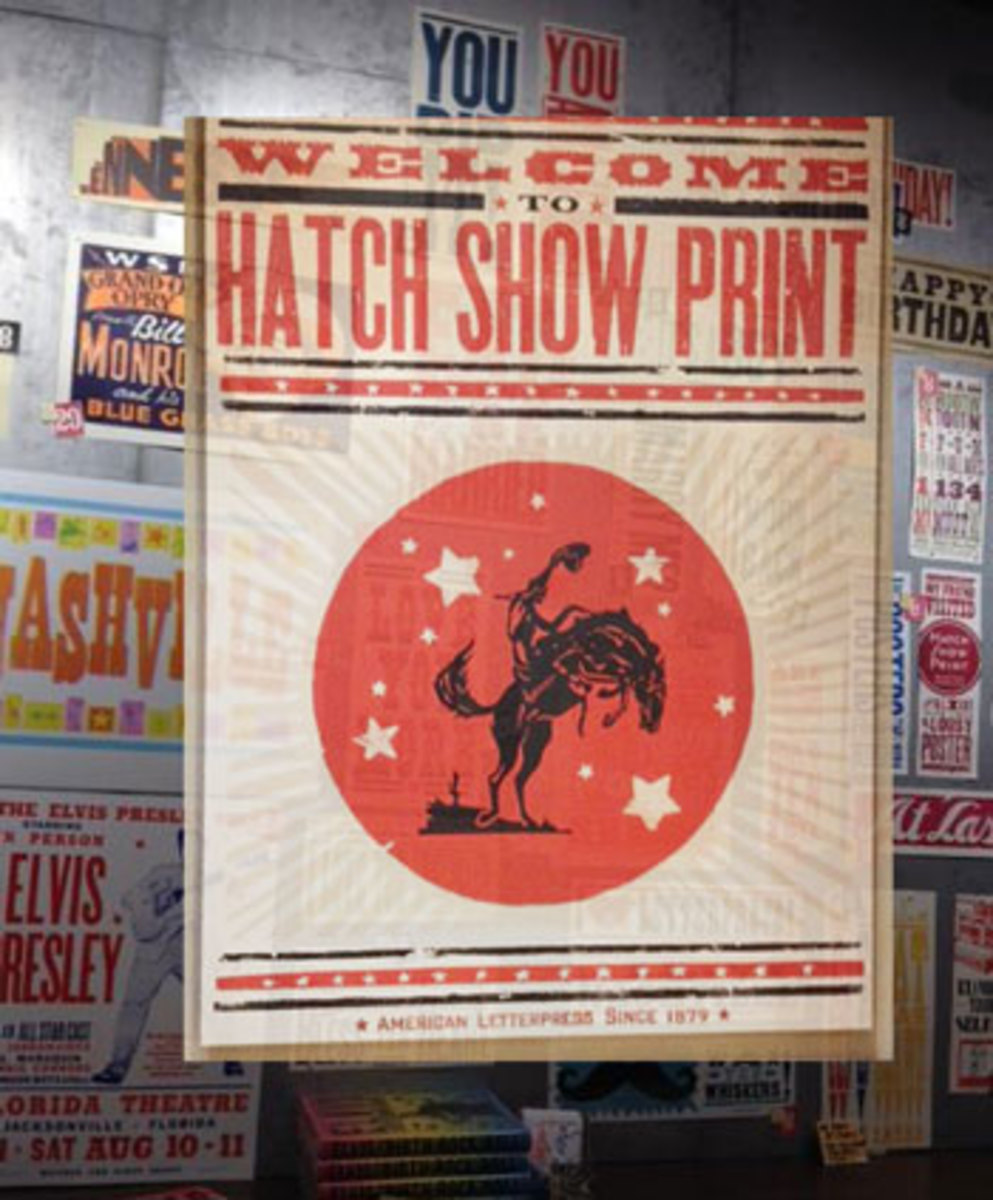 Hatch Show Print in Nashville