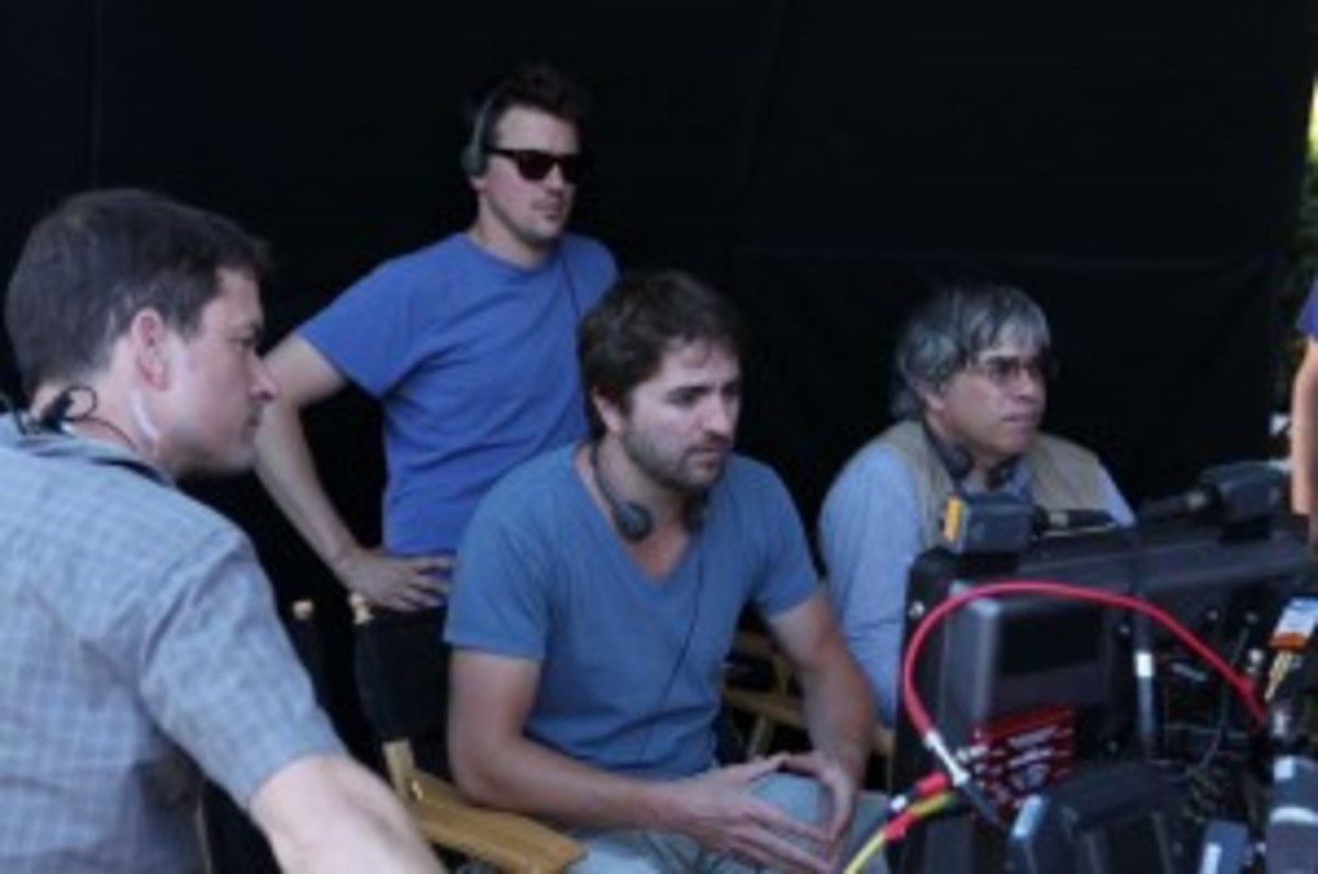 David Jung (center) directing 'The Possession of Michael King.'