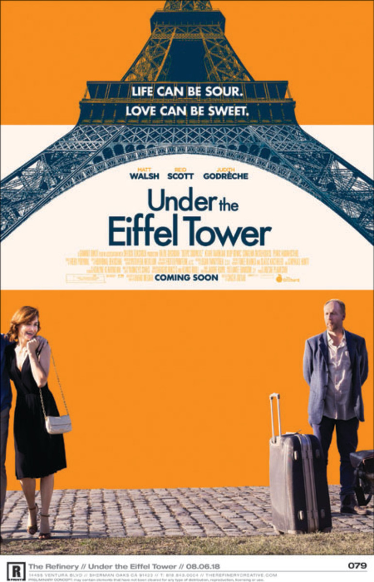 Under the Eiffel Tower is written by Archie Borders and David Henry. Starring: Matt Walsh, Judith Godrèche, Reid Scott
