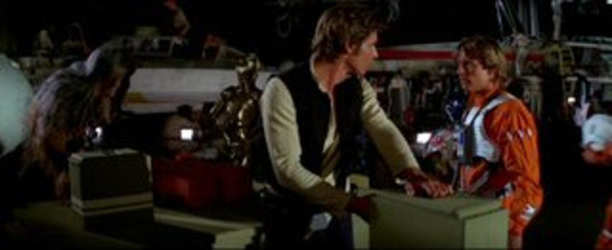 Luke differentiates himself from Han in the wake Star Wars' of act two, completing his arc.