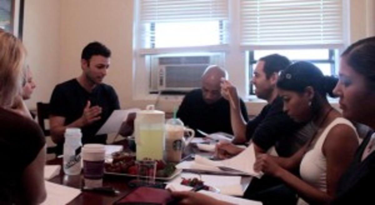 "Thank you to the actors who helped me out at my ""Deal Travis In"" table read!"