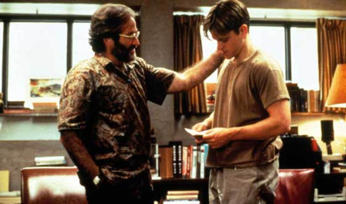 Sean mentors the psychology of the outer journey in Good Will Hunting.