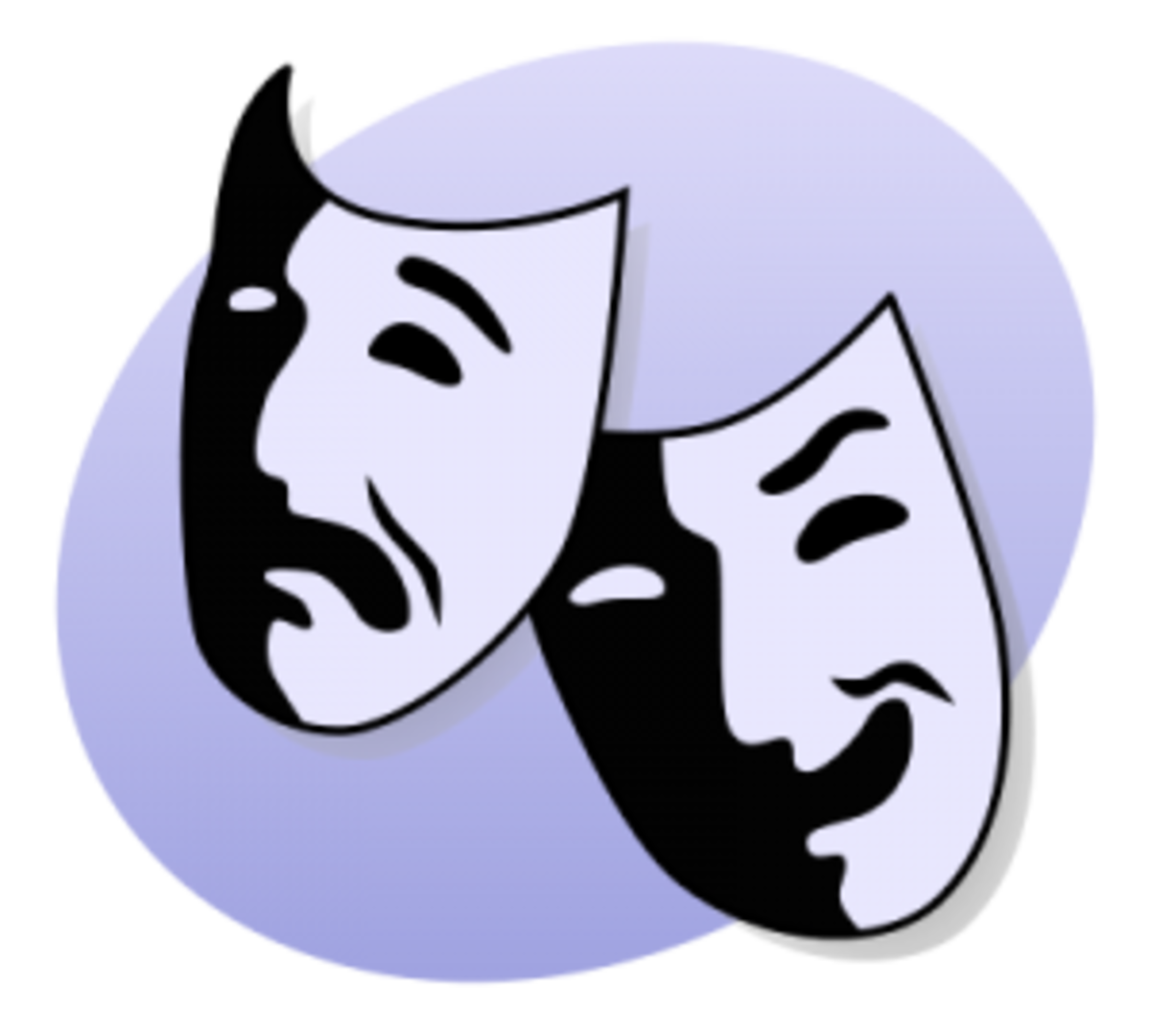 The eternal symbol of theater is the comedy and tragedy masks as the earliest categorizing of genre for original stories.