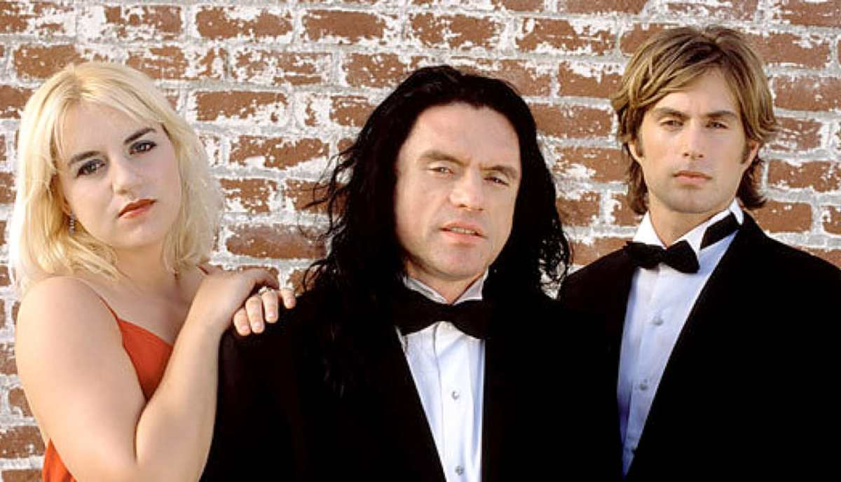 Tommy Wiseau and Greg Sestero, with The Room co-star Juliette Danielle.