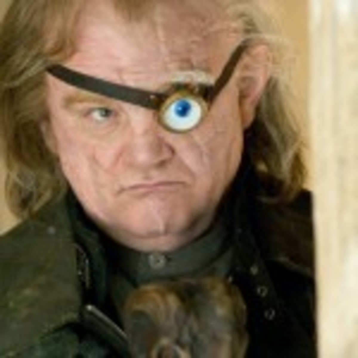 """Mad-Eye"" Moody in Harry Potter and the Goblet of Fire."
