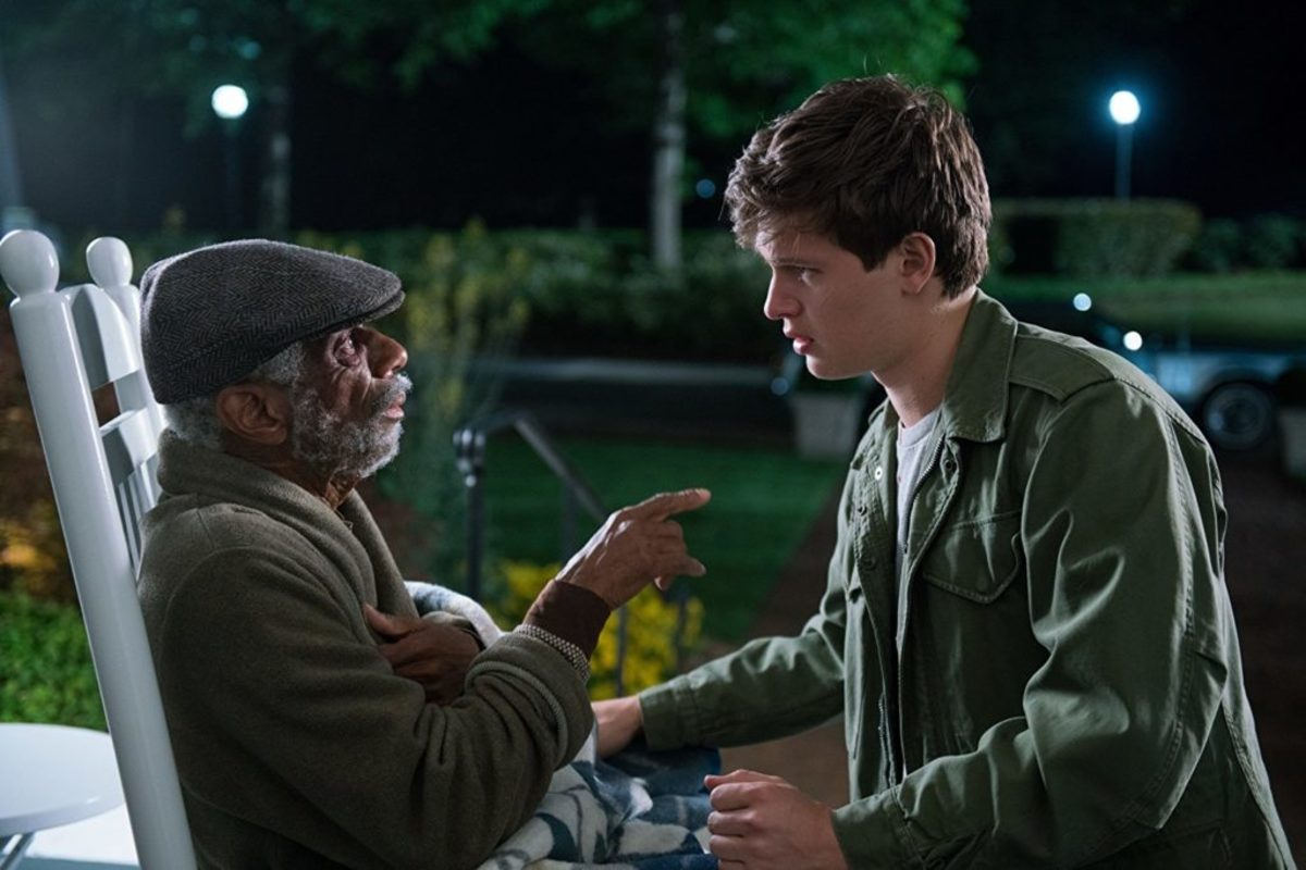 CJ Jones (left) and Ansel Elgort in Baby Driver