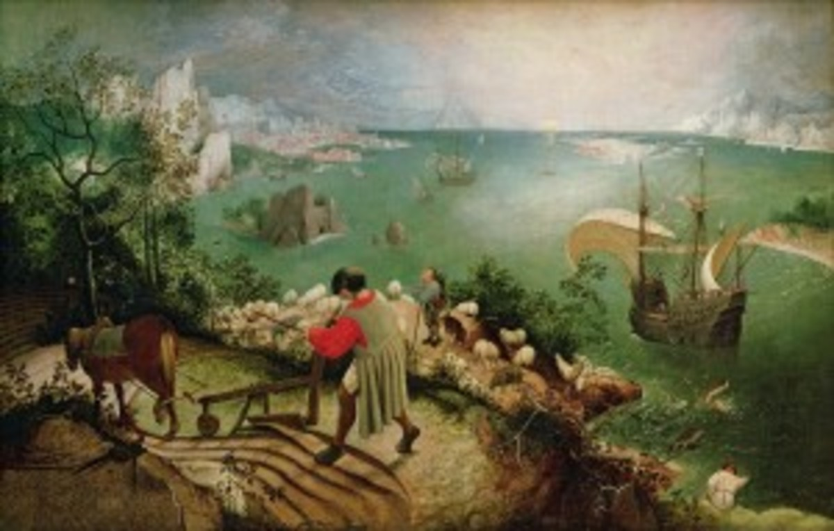"""Landscape With The Fall of Icarus"" Pieter Bruegel"