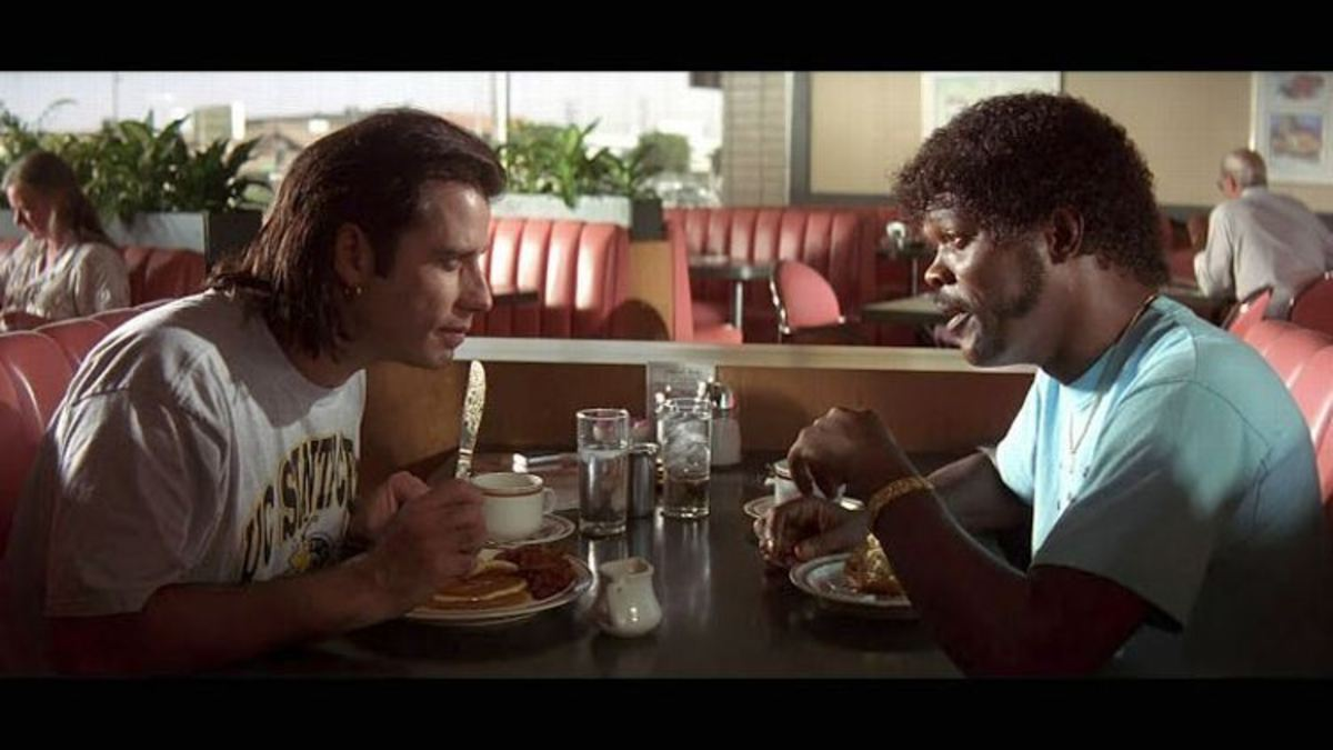 How do writers such as Quentin Tarantino get away with writing lengthy dialogue when we are constantly told not to? by Anthony Royle | Script Magazine #scriptchat #screenwriting