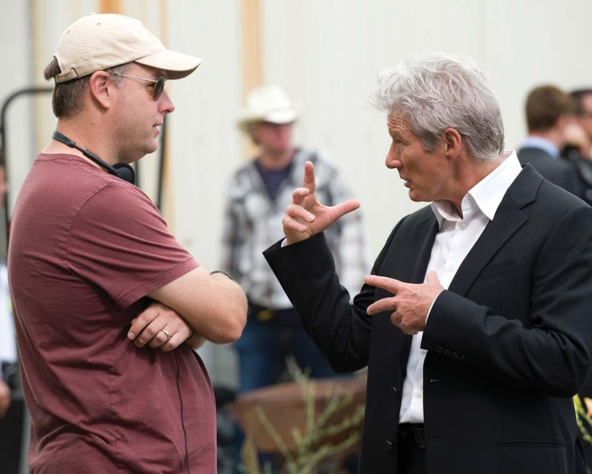 Michael Brandt and Richard Gere on the set of The Double Production Photos: Ron Phillips