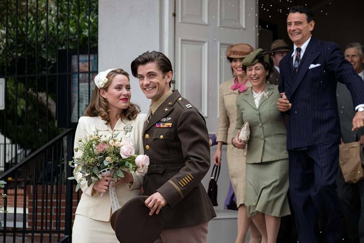 Samuel Hunt and Merritt Patterson as Louis and Cynthia Zamperini - PHOTOS BY WTA GROUP/UNIVERSAL 1440 ENTERTAINMENT
