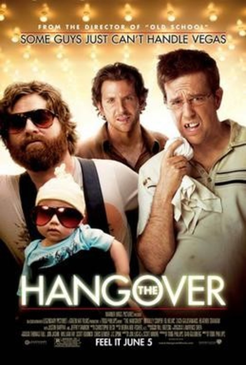 Zack Galifianakis, Bradley Cooper, and Ed Helms in THE HANGOVER. Photo © Warner Bros 2009