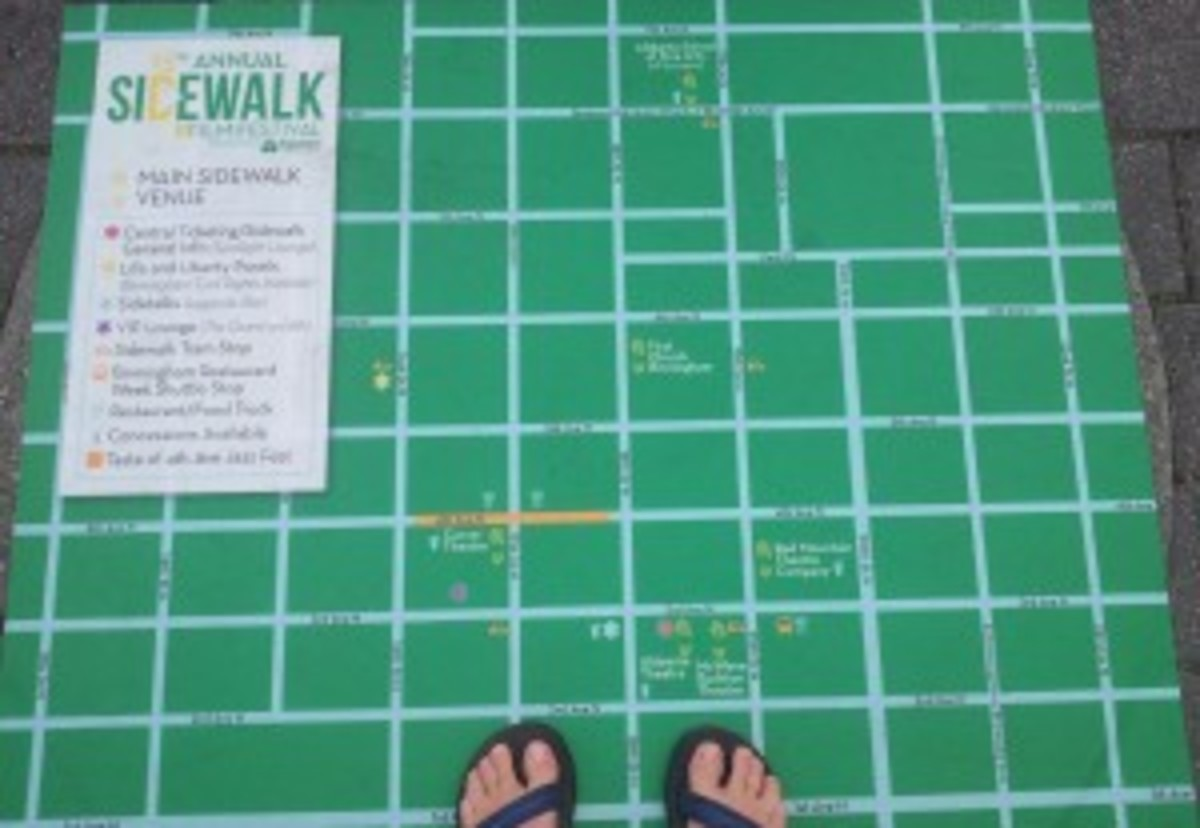 Map of the Sidewalk Film Festival Venue