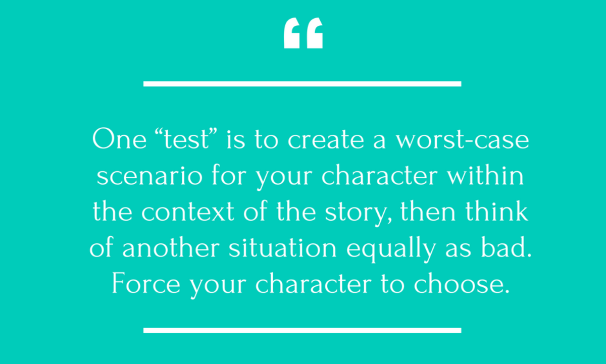 The dictionary defines dilemma as a situation with a choice to be made in which neither alternative is acceptable. Two equally unacceptable alternatives—two equally painful choices. Stewart Farquhar shares tips for creating dilemma in story for both the antagonist and protagonist.