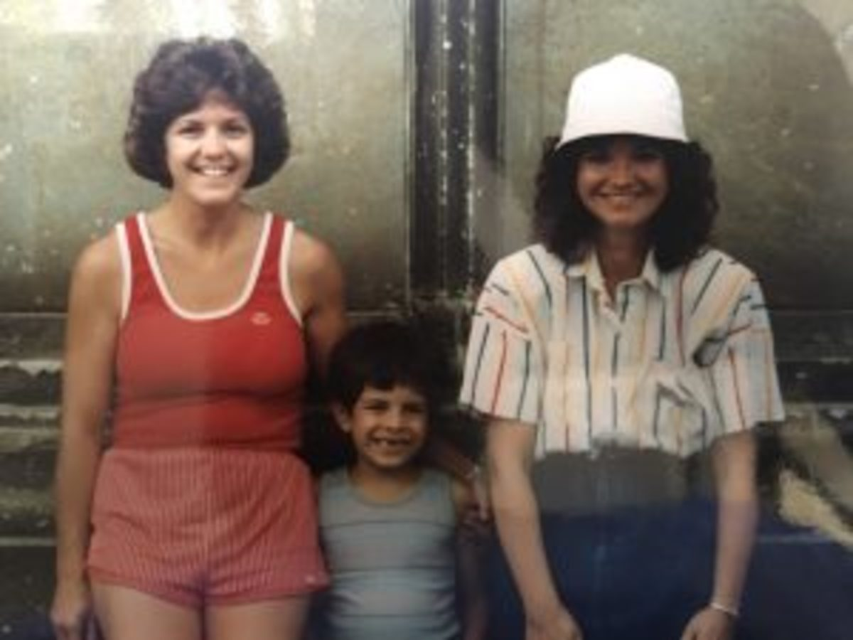 Me, my mom and my first grade teacher, Ms. Skibicki.
