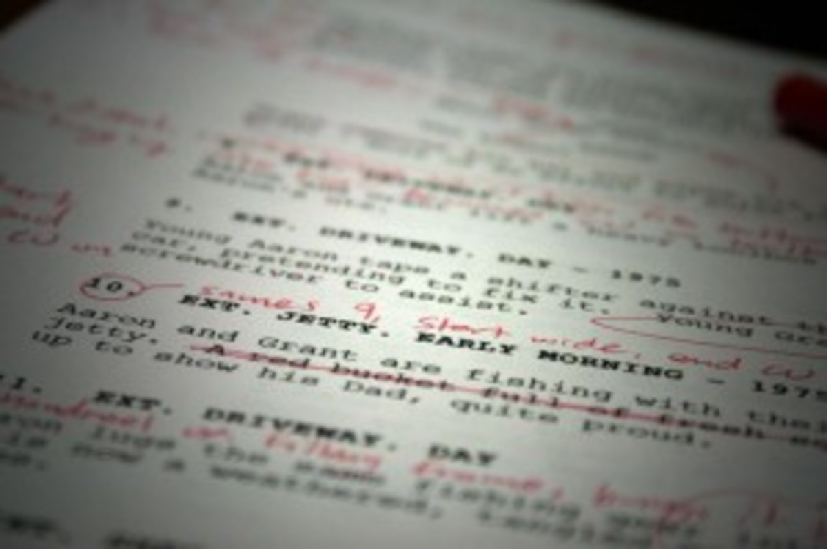 Editing your script should not just be limited to technical stuff, but how you use words too.
