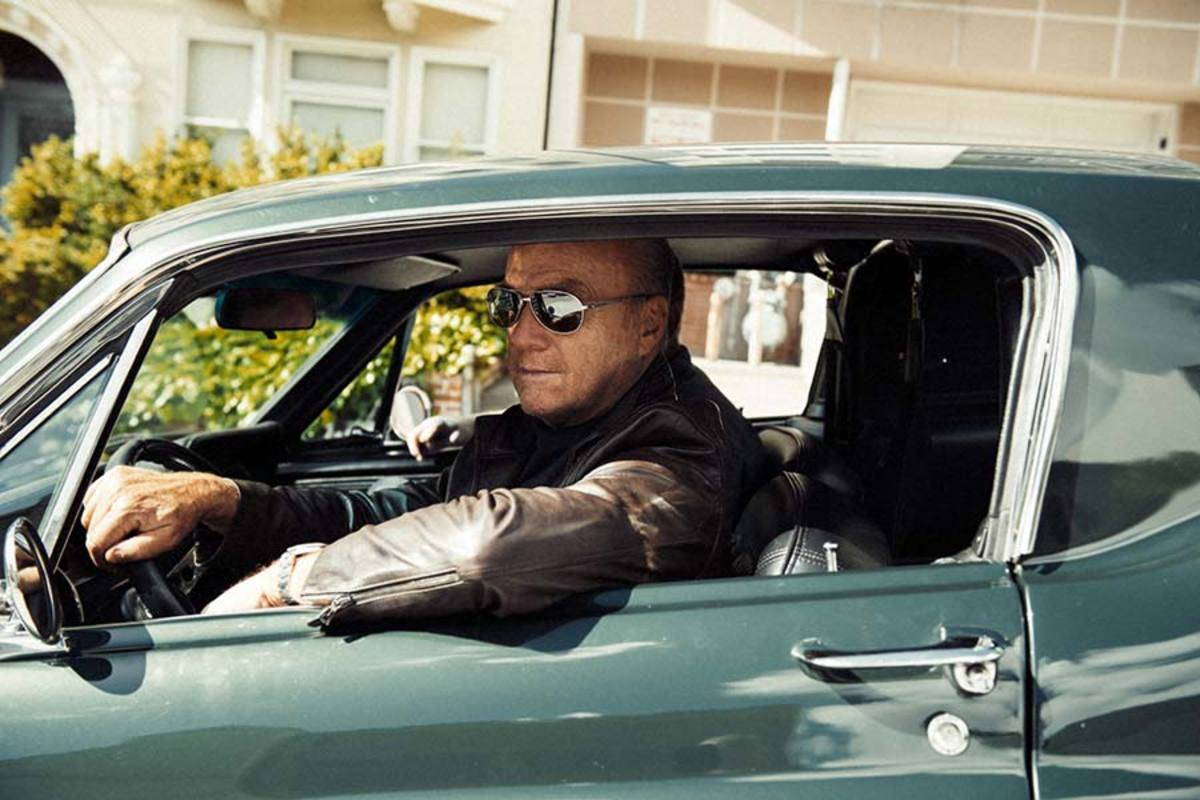 "Greg Laurie in his replica ""Bullit"" Mustang"