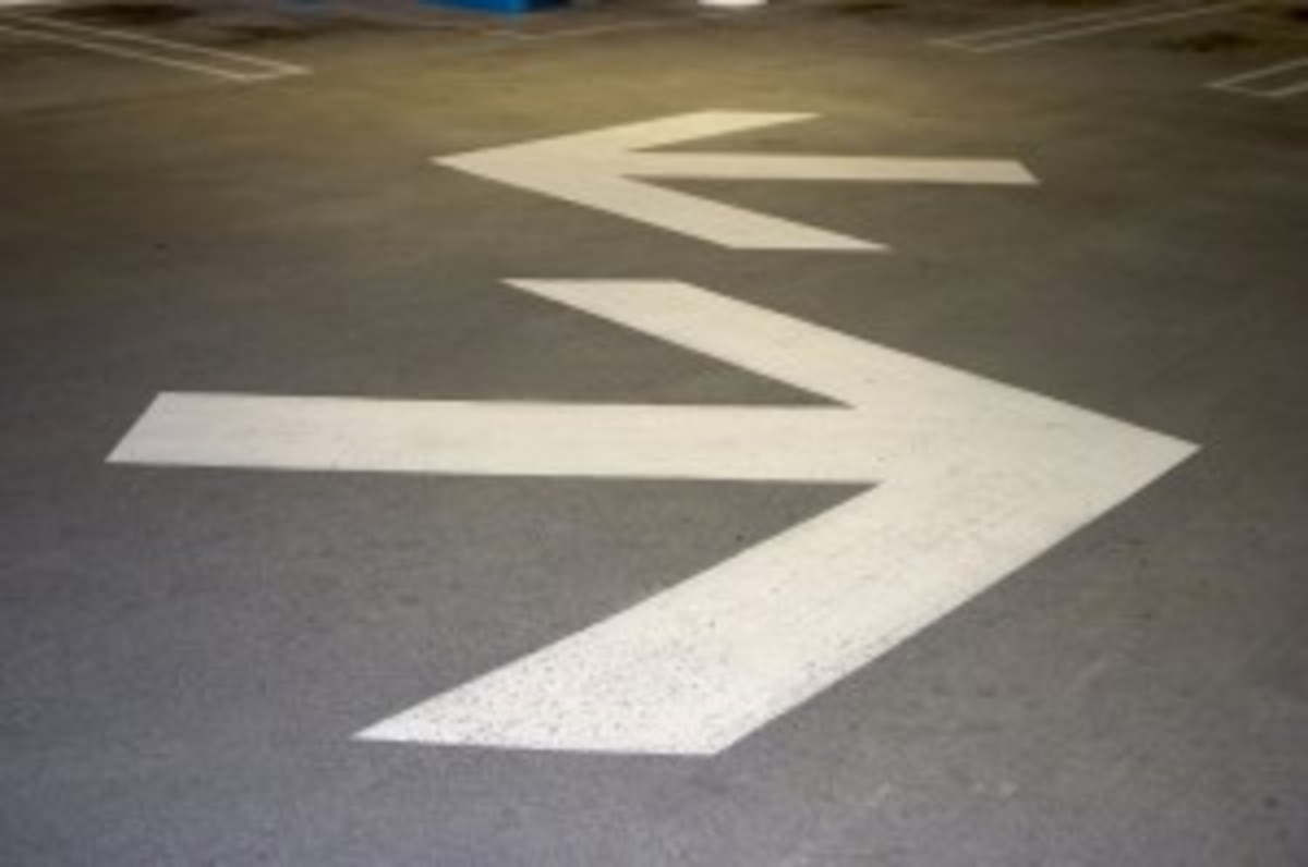 parking structure arrows