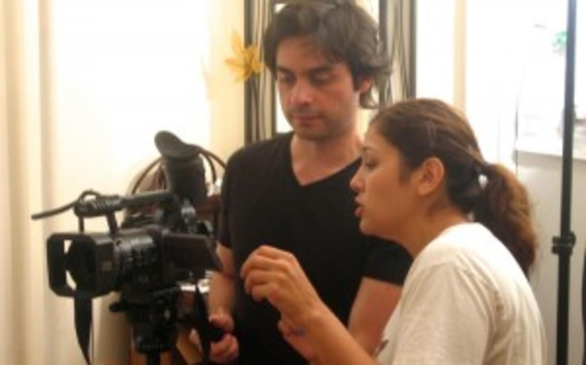 Alain Aguilar and Kim Garland