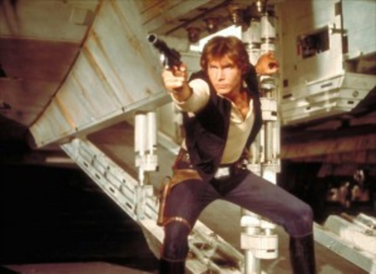 Star Wars' own western space gunslinger with leather hip holster included.