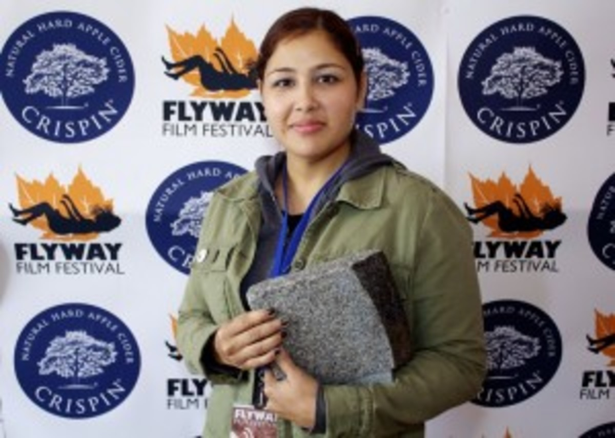 Sometimes REALLY crazy things happen at film fests - Winning an award at the Flyway Film Festival 2012