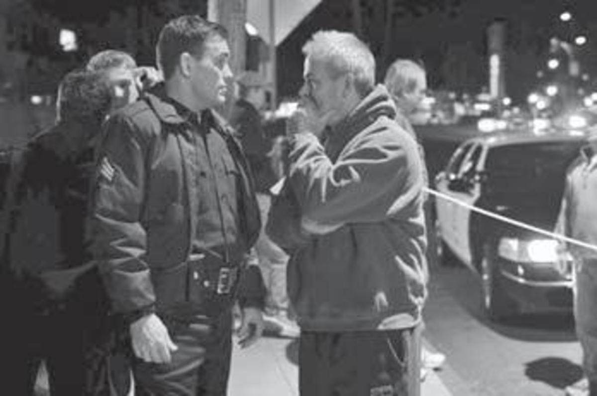 Writer-producer Bobby Moresco on the set of Crash with actor Matt Dillon. PHOTO: Lions Gate Photography.
