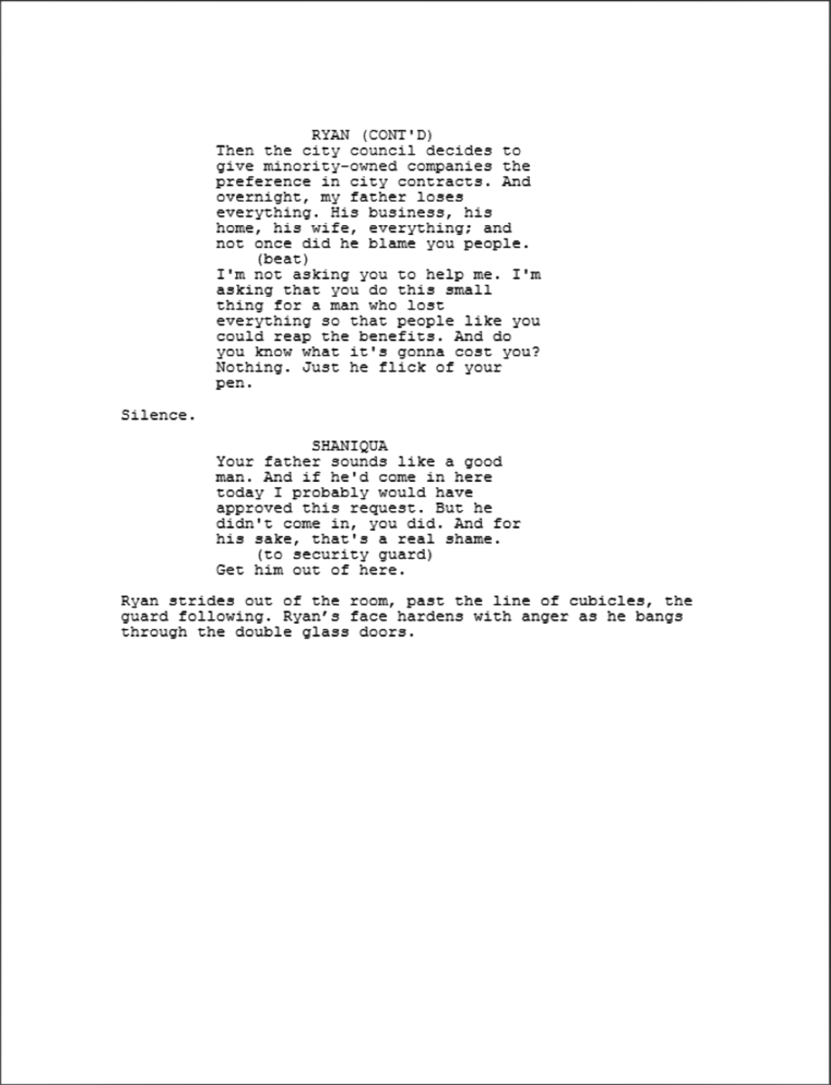 The Writing of Crash excerpt 4