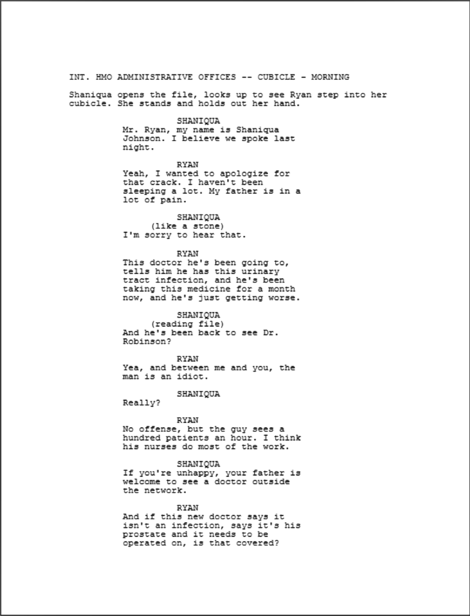 The Writing of Crash excerpt 2