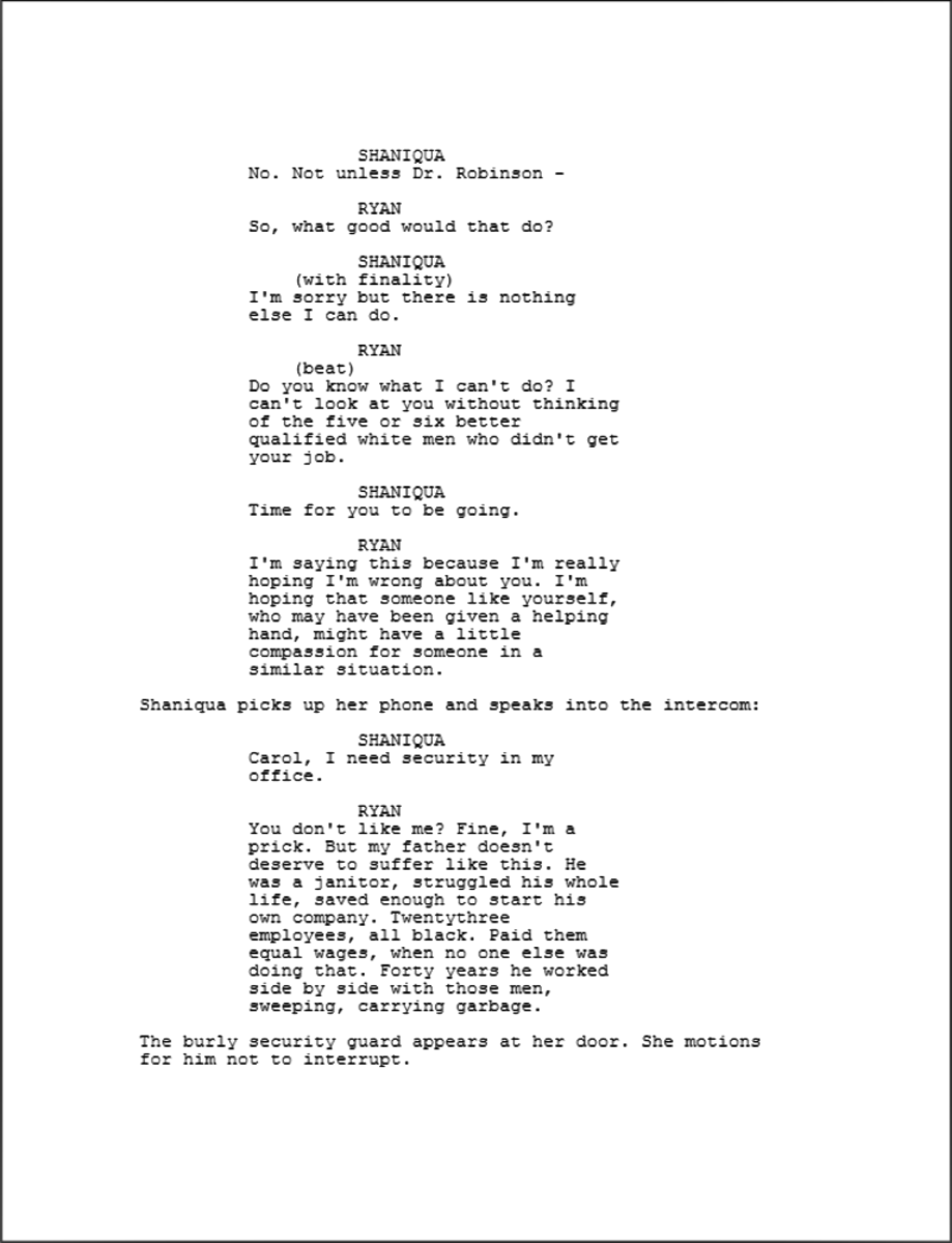 The Writing of Crash excerpt 3