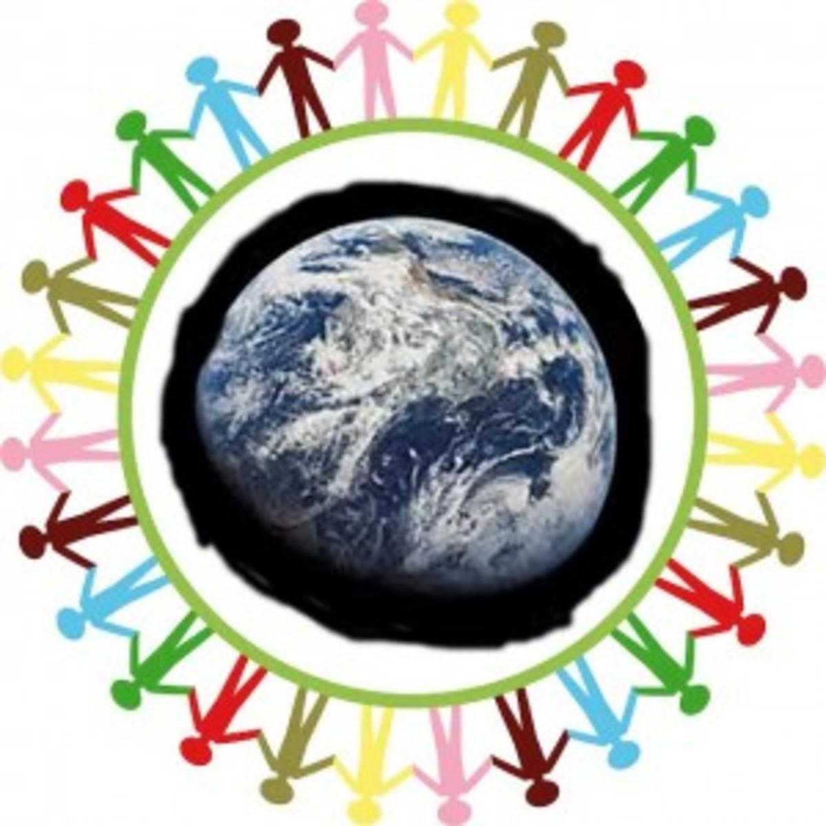 people circle earth