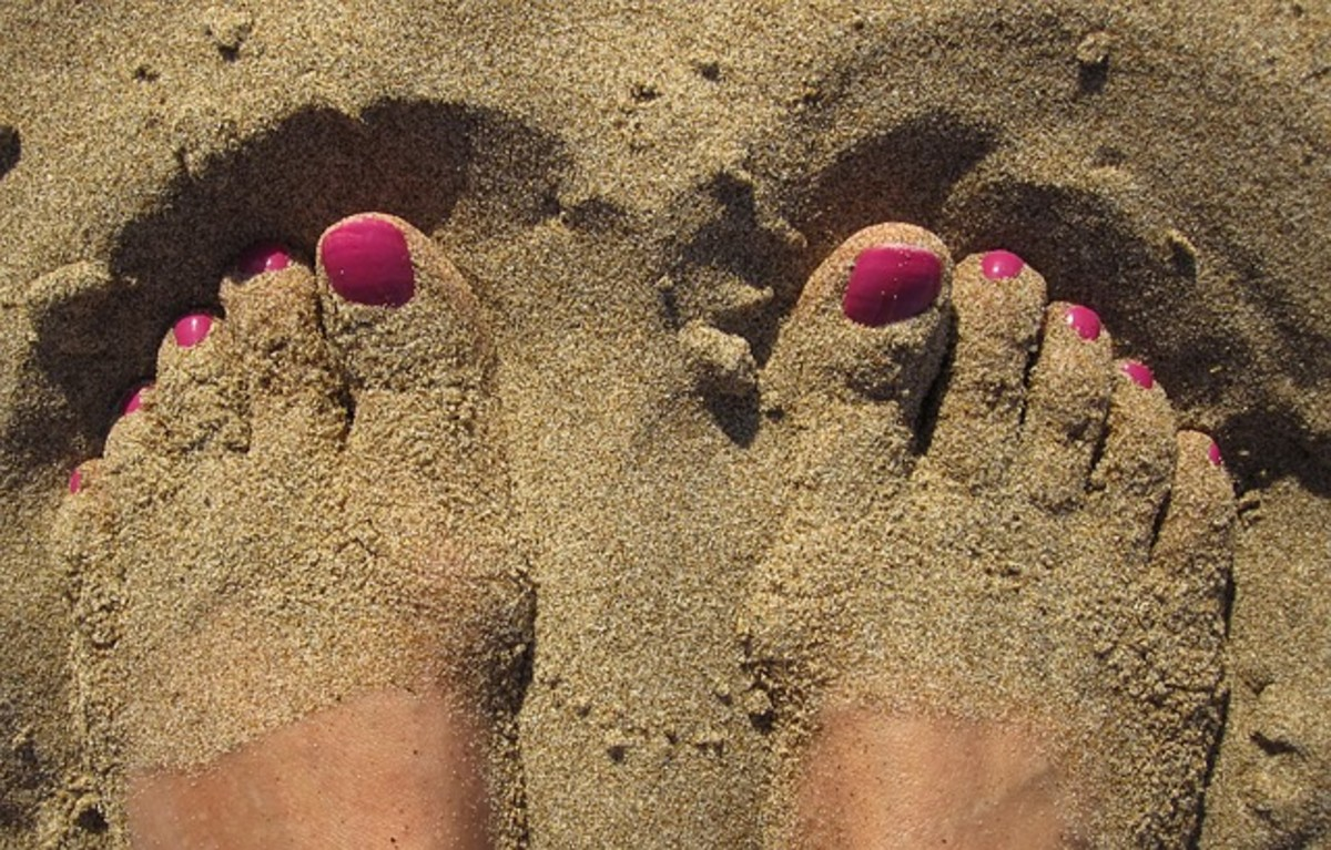beachy, in shape feet