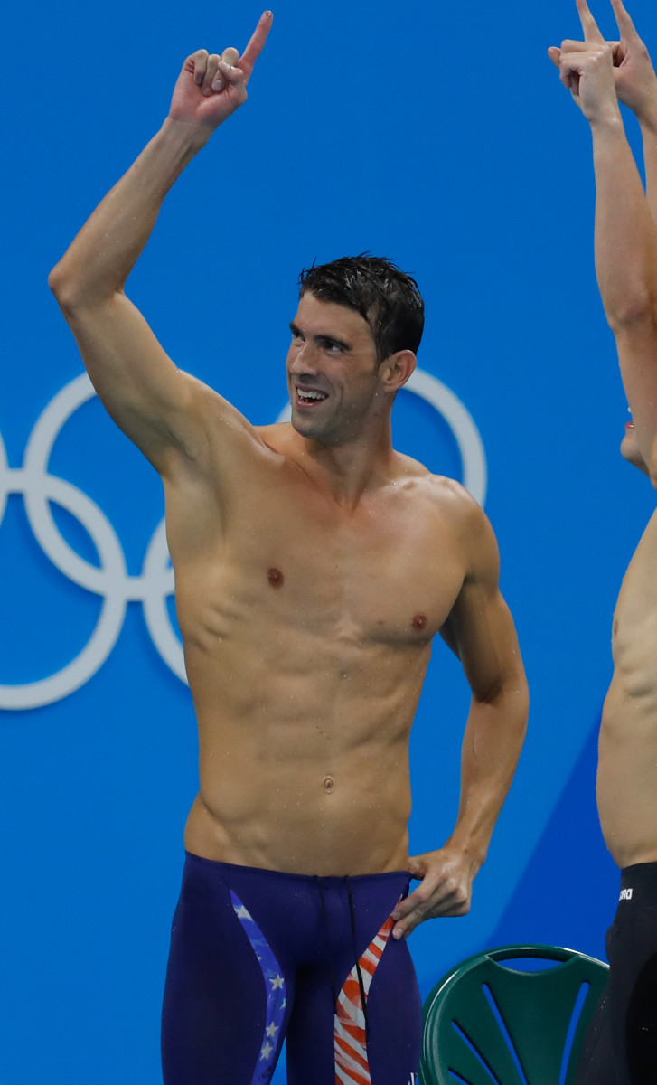 Muscles of Michael Phelps