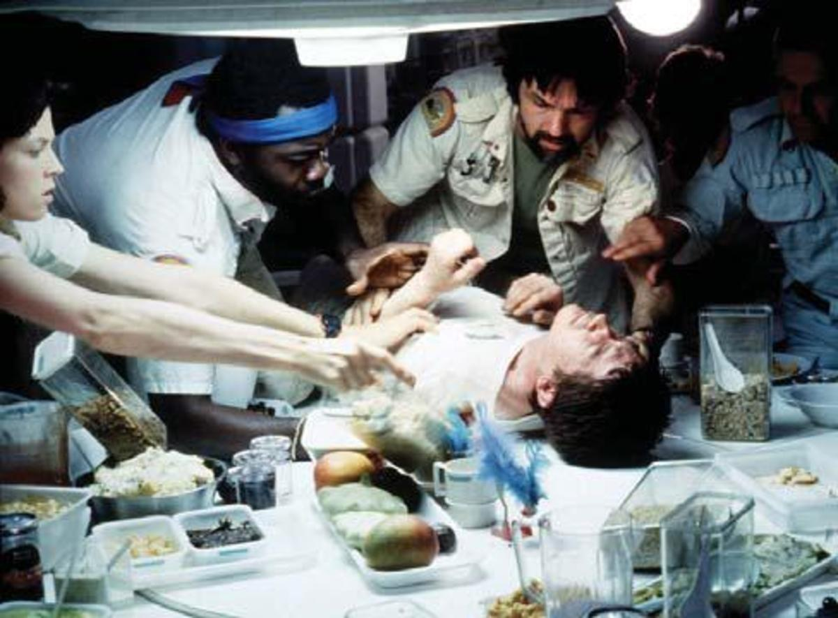 The chest-burster scene in Alien PHOTOS BY: Robert Penn