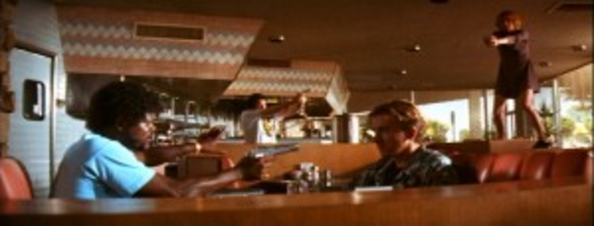 Pulp Fiction - Tarrantino's use of the Mexican Standoff