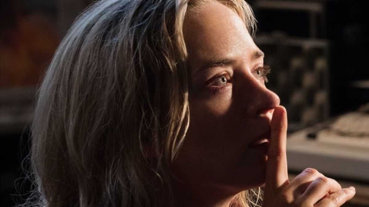 """The characters in """"A Quiet Place,"""" including Emily Blunt, must speak through signs and gestures to avoid monsters. (Credit: Jonny Cournoyer/Paramount Pictures)"""
