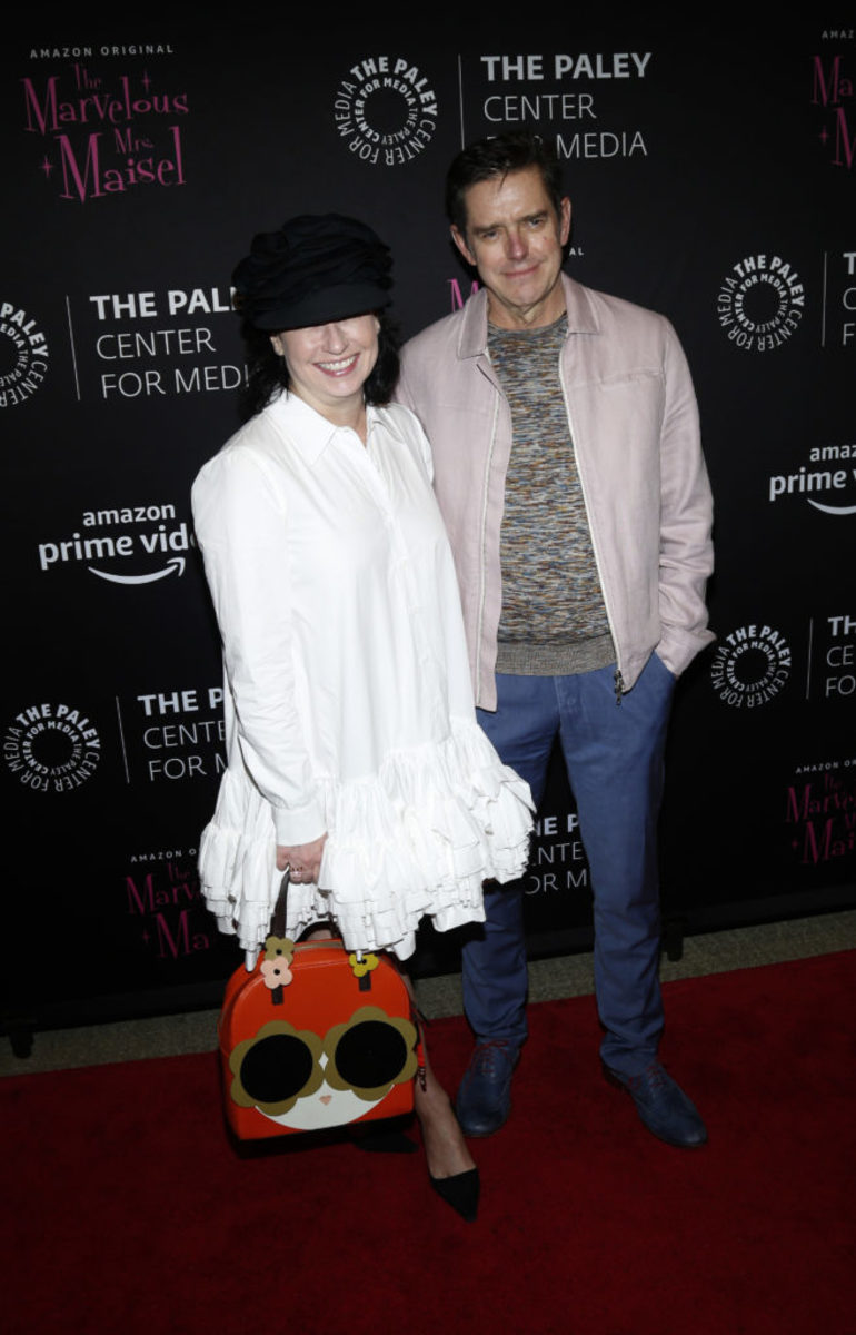 Amy Sherman-Palladino and Daniel Palladino . (Photo by Lars Niki/Getty Images for Amazon Studios and The Marvelous Mrs. Maisel )